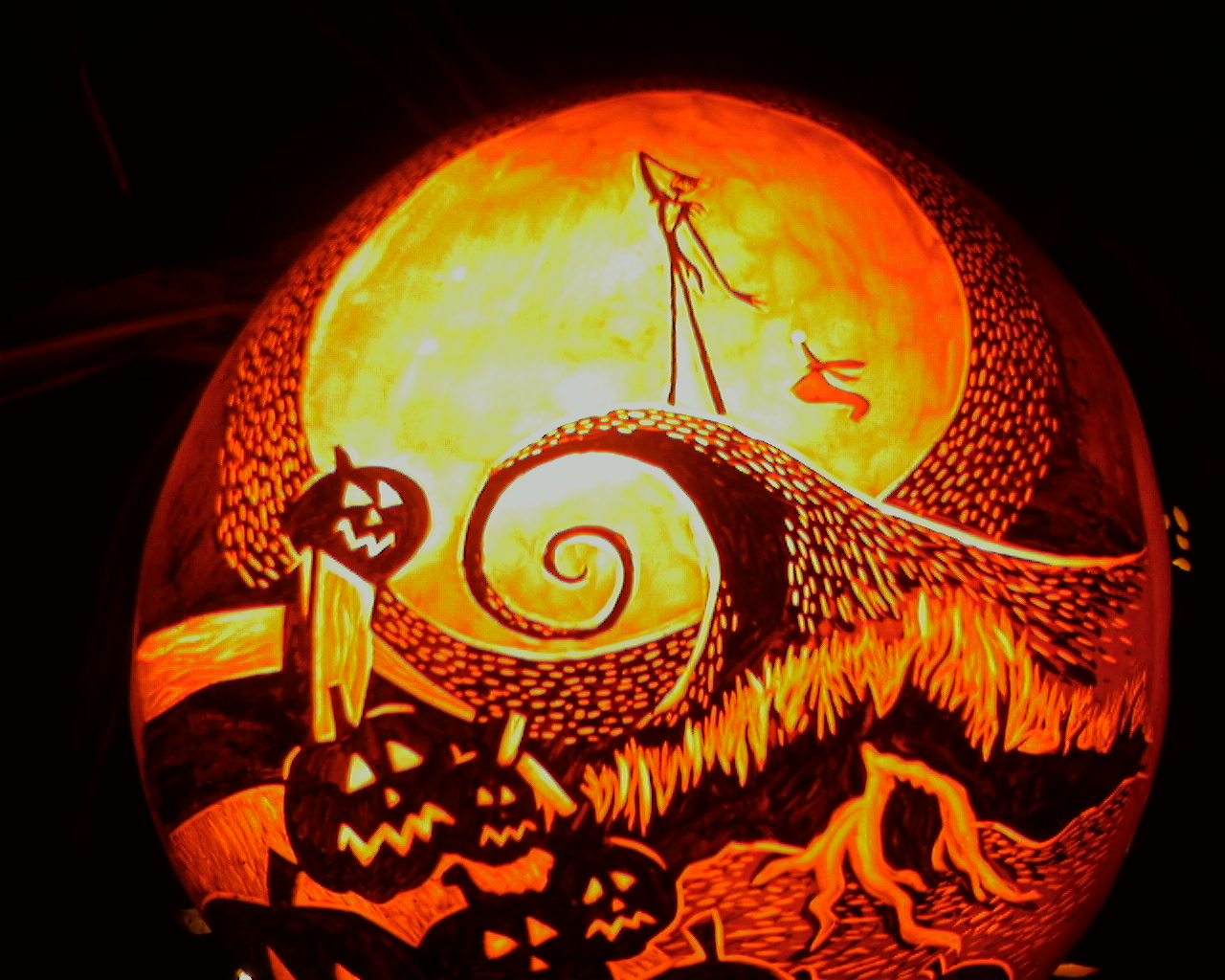 Nightmare Before Christmas Pumpkin Carving Christmas