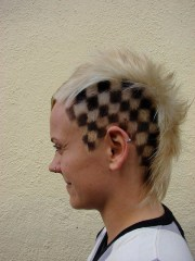hair color black and white chess
