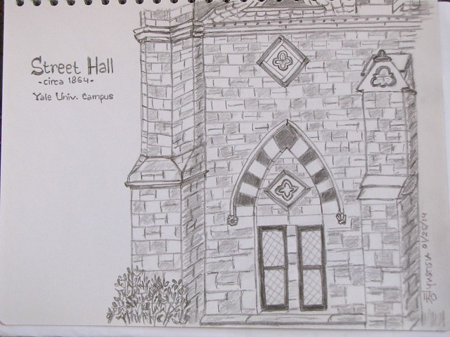 Sketch of Street Hall, Yale