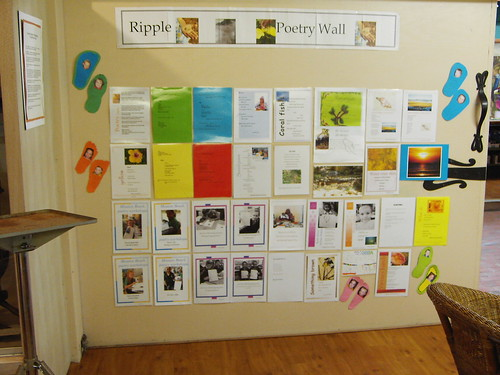 Poetry Wall at C4