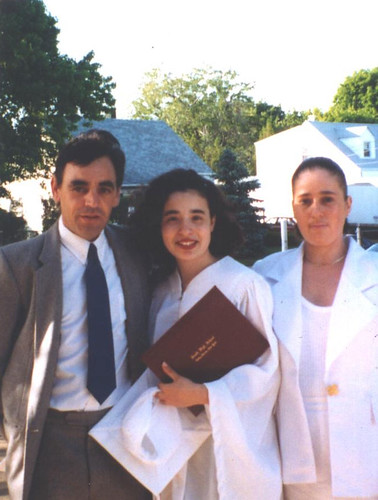 my dad, me and my mother at high school graduation