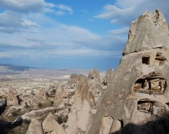 """Cappadocia """"Condos"""" carved in the volcanic formations"""