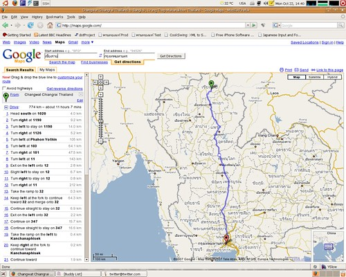Google Maps can route Thailand map Flickr Photo Sharing!