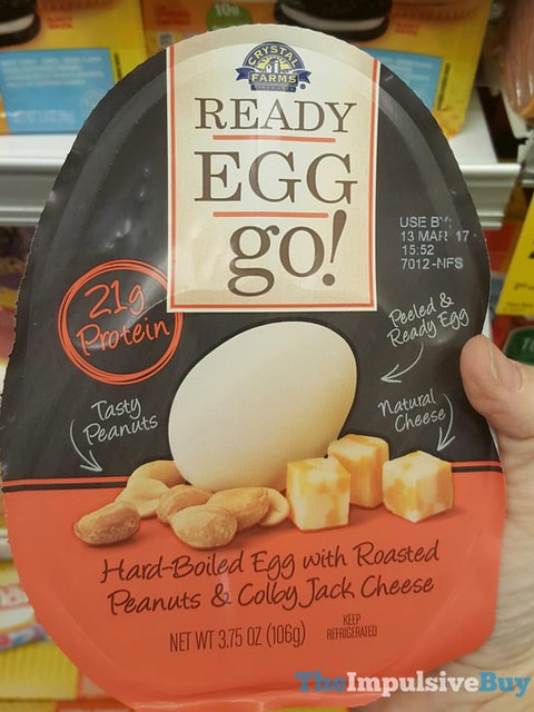 Crystal Farms Ready Egg Go! with Roasted Peanuts & Colby Jack Cheese