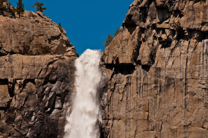 The top of the Yosemite Falls