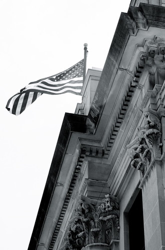 Old Glory in B&W