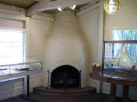 Sherman Library & Gardens beehive fireplace | This is the ...