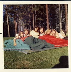 Girls' Slumber Party  1973, front lawn @ 3565 Needle Pk, SLT