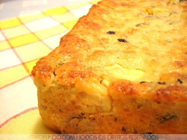 Cake de Azeitonas e Cogumelos