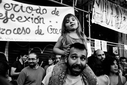 15-M Por una democracia real / Papá mola muuuucho