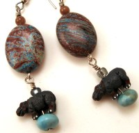 Mysterious Hippo Earrings   Flickr - Photo Sharing!