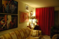 My old apartment living room, paintings, Buddhist shrine ...