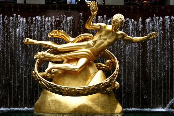 Prometheus Prometeo Rockefeller Center Detail