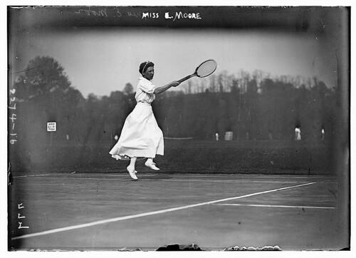 Miss E. Moore (LOC), tennis 1910 - 1915