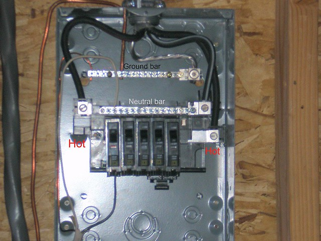 To Wire A Sub Panel On Square D Homeline 100 Amp Panel Wiring Diagram