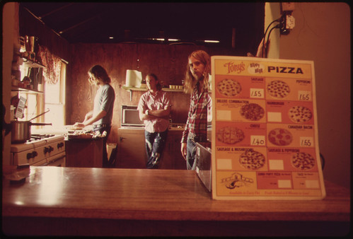 Pizza Place in the Town of Leakey, Texas, near San Antonio 05/1973