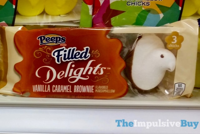 Peeps Filled Delights Vanilla Caramel Brownie