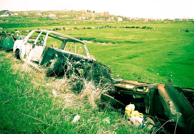 Field of wrecks