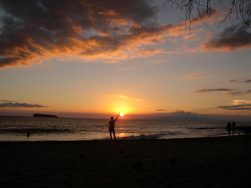 Sunset, Little Beach, Maui