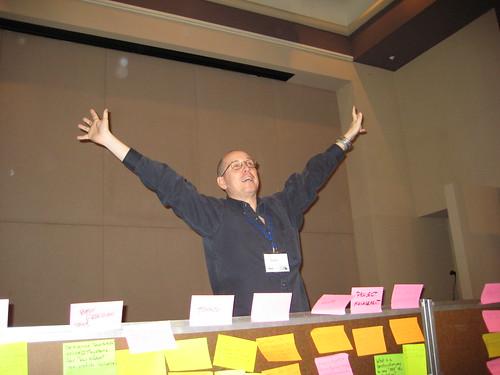 Our shrinking violet facilitator, Allen Gunn, aka Gunner.
