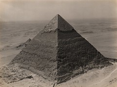 The Chephren Pyramid from the top of the Cheops Pyramid - 1936