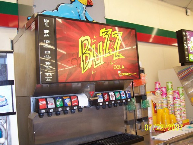 711 Simpsons Buzz Cola soda fountain  Flickr  Photo