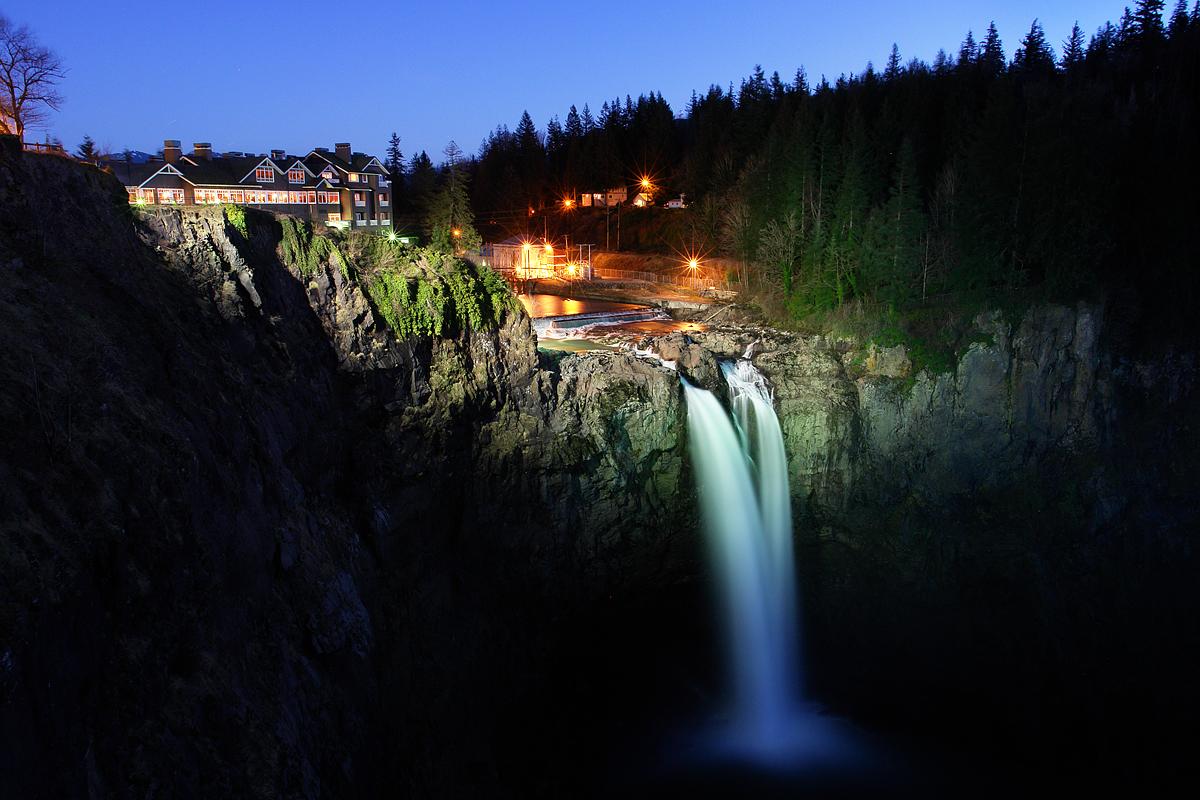 Snoqualmie Falls Wallpaper Salish Lodge Amp Snoqualmie Falls At Night Flickr Photo