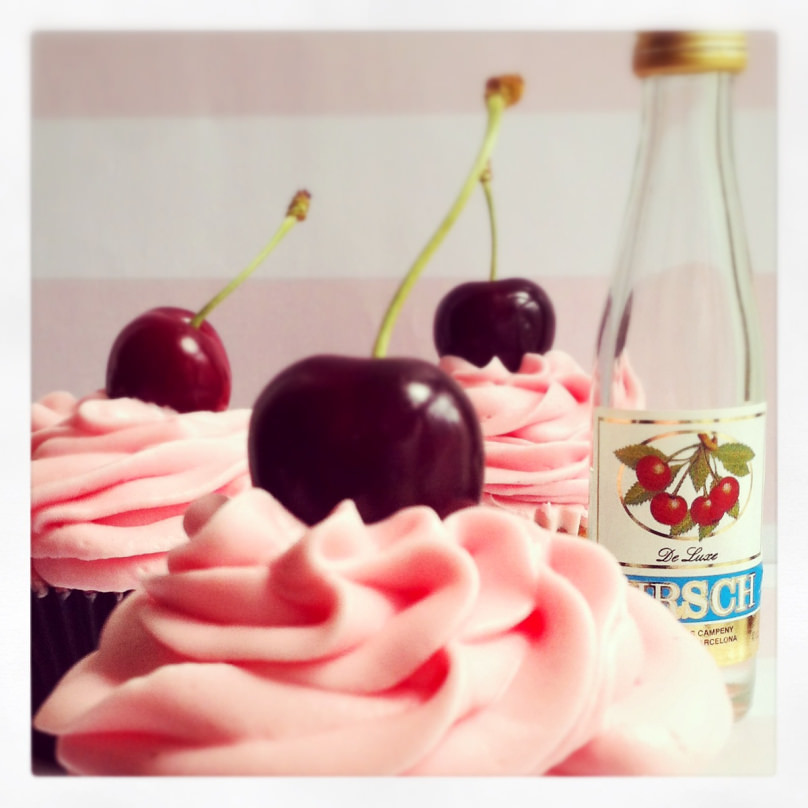 Cupcakes de licor de cereza