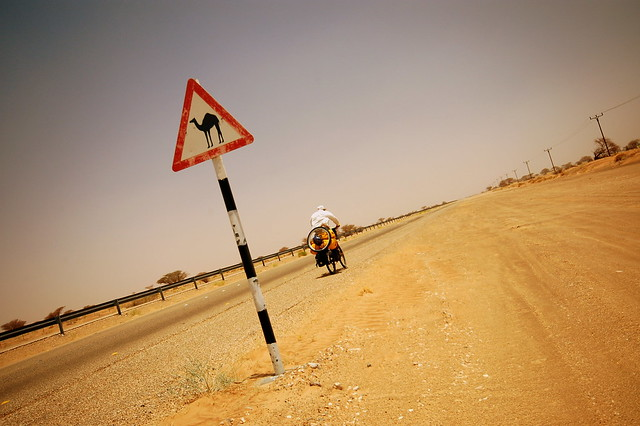 On the road in Oman