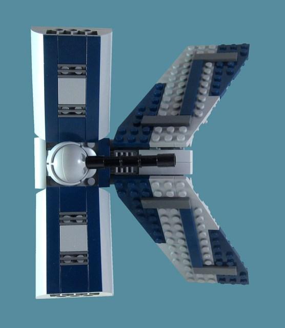 MOC-016 LEGO K Spaceship - Top