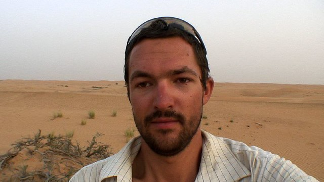 Video diary in Omani desert
