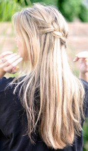 french braid with cascading hair