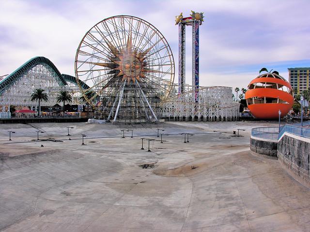 Empty Paradise Pier Lake