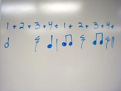rhythm on a whiteboard