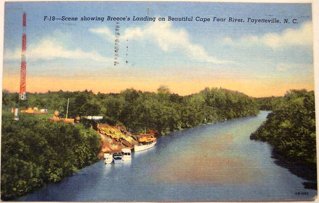 Vintage Postcard  Breeces Landing Cape Fear River Fayetteville NC  Flickr  Photo Sharing