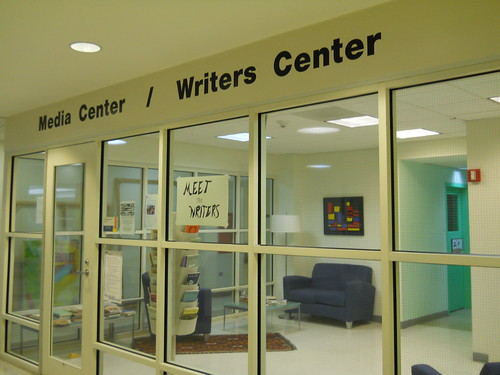Media Center/Writers Center in library