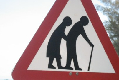 Old People Crossing - Sign