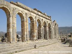 Ruínas romanas de Volubilis, UNESCO em Marrocos