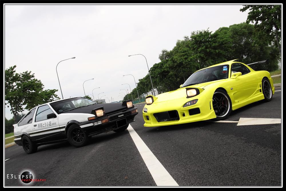 Initial D AE86 Trueno & Mazda RX7 FD3S - a photo on Flickriver