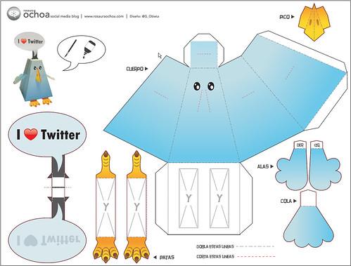 Twitter Bird - Paper Toy