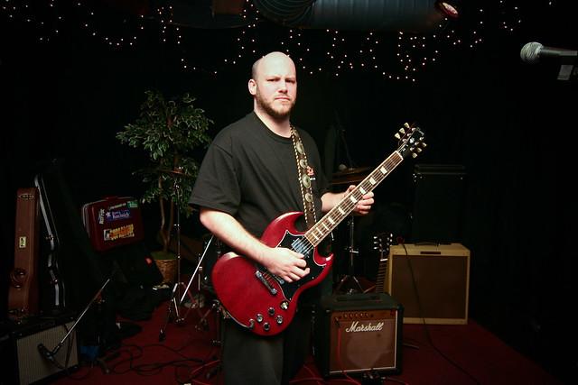 Matt Searles plays guitar