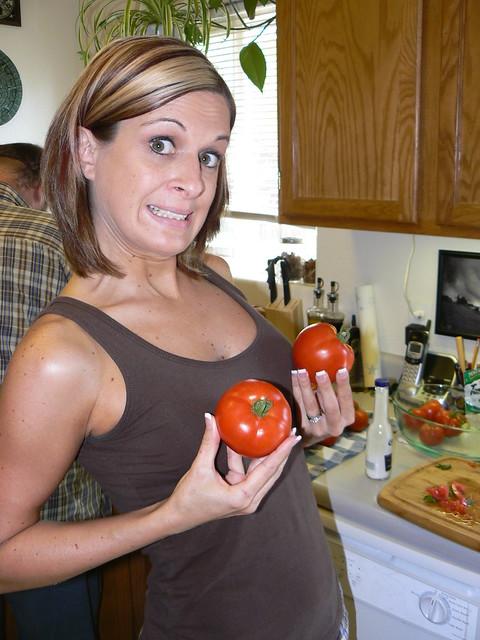 I got me some nice tomatoes!