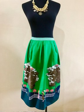 green skirt on a mannequin