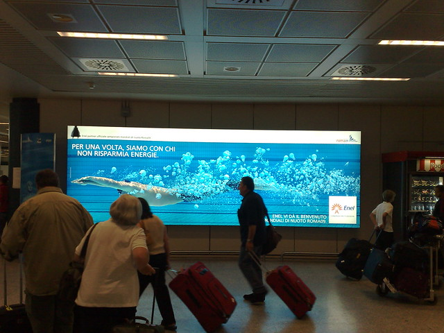 Roma09 poster at Fiumicino Airport