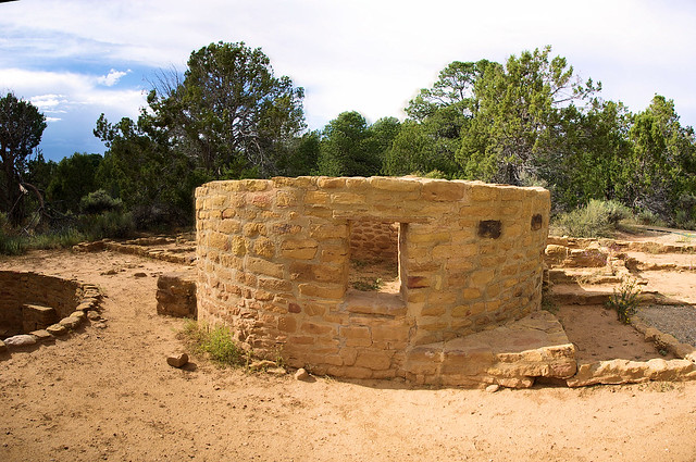 Far View Tower (composite image),  Mesa Verde National Park, Colorado, September 14, 2009