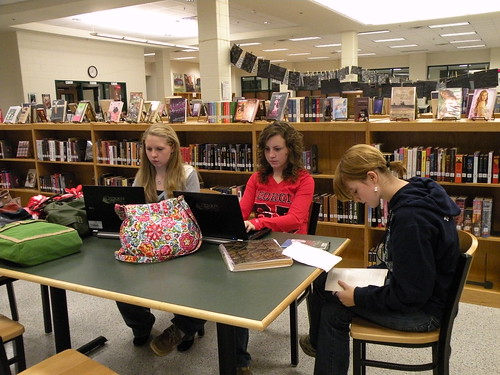Image: Literature Circle Meetings and Posting Notes of Meeting to the Group's Google Site!