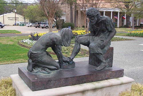 Jesus Washing Peter's Feet by J. Stephen Conn
