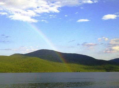 Rainbow over Lake George
