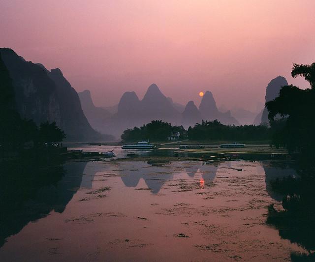Sunset at Xingping Yangshuo
