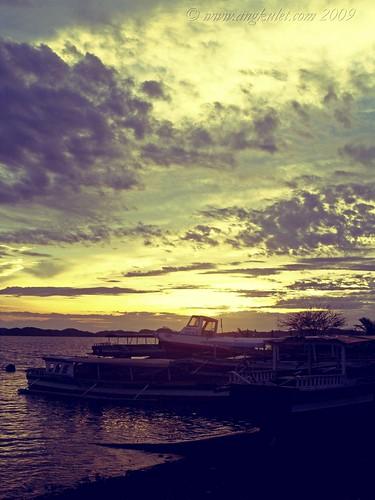 The sun rises over at Alaminos, Pangasinan